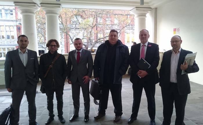 Tom Whettem, Cannabidol; Anthony Cohen, Elixinol UK; Tom Rowland, CBD Oils UK; Karl Spratt, Hempire; Peter Reynolds, CLEAR Cannabis Law Reform; Mike Harlington, GroGlo Research & Development